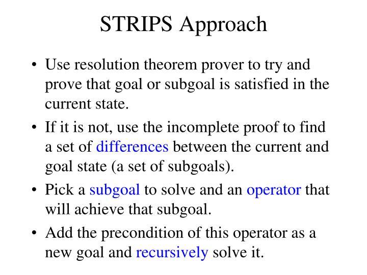 STRIPS Approach