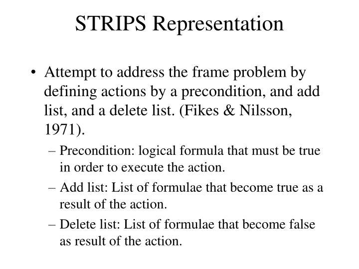 STRIPS Representation