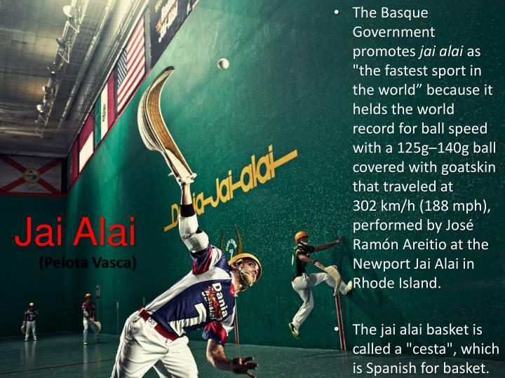 Jai Alai Ball Speed