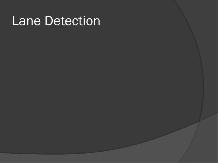 Lane Detection