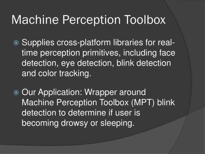 Machine Perception Toolbox