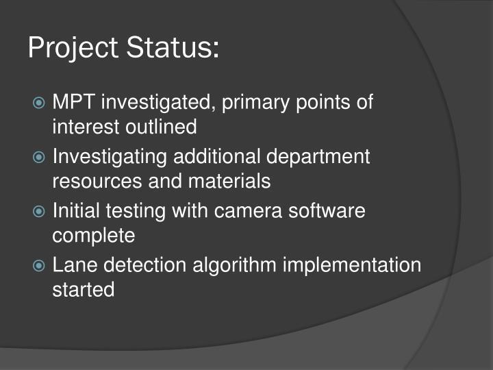 Project Status: