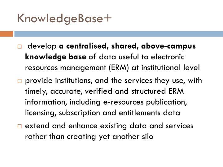 KnowledgeBase+