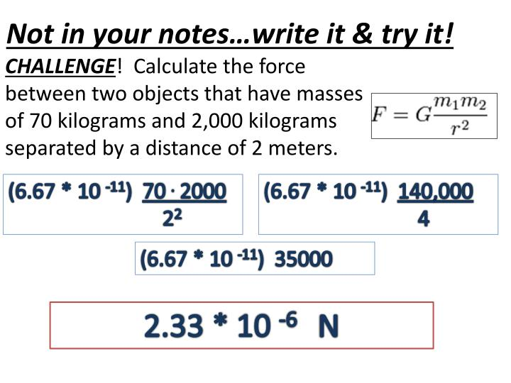Not in your notes…write it & try it!