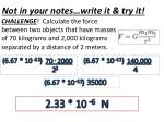 not in your notes write it try it