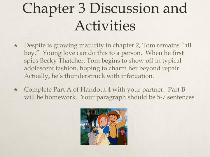 Chapter 3 Discussion and Activities
