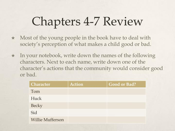 Chapters 4-7 Review