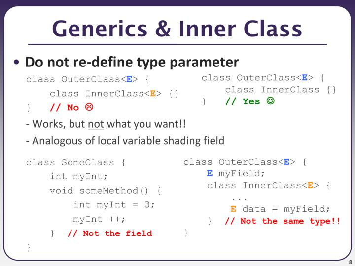 Generics & Inner Class