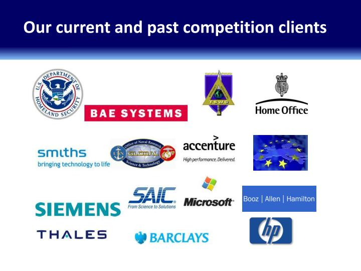Our current and past competition clients