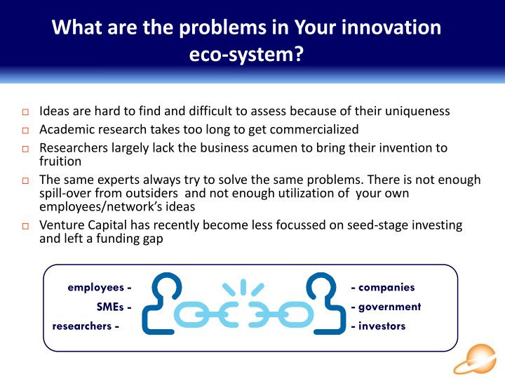What are the problems in your innovation eco system