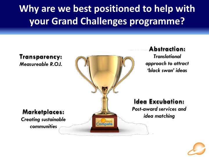 Why are we best positioned to help with your Grand Challenges programme?