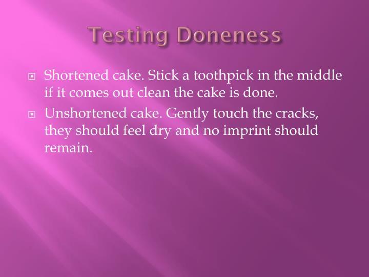 Testing Doneness