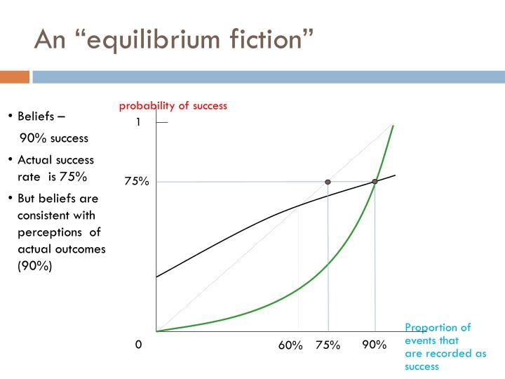 """An """"equilibrium fiction"""""""
