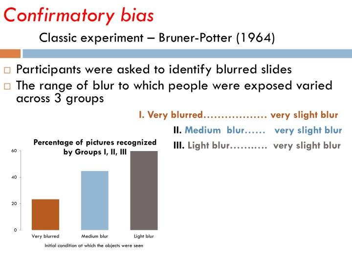 Confirmatory bias