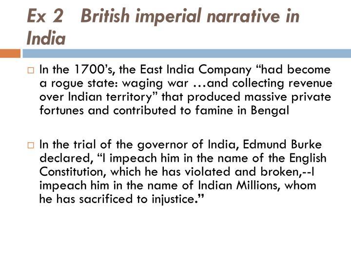 Ex 2   British imperial narrative in India