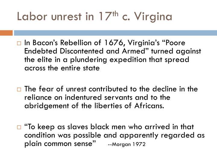 Labor unrest in 17