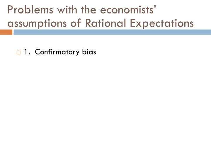 Problems with the economists'
