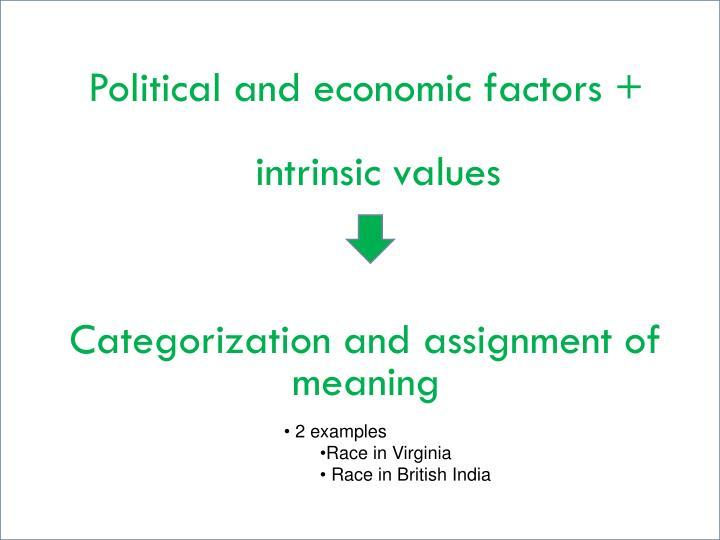 Political and economic factors
