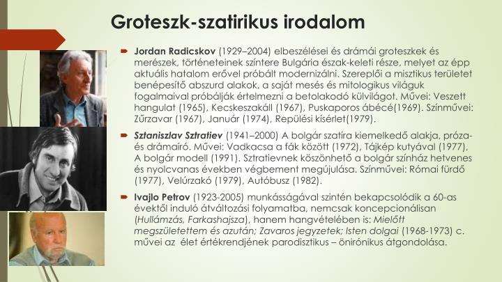 Groteszk-szatirikus irodalom