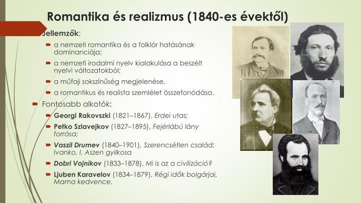 Romantika és realizmus (1840-es évektől)