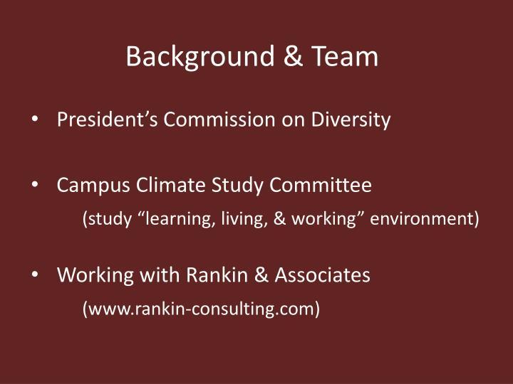 Background & Team