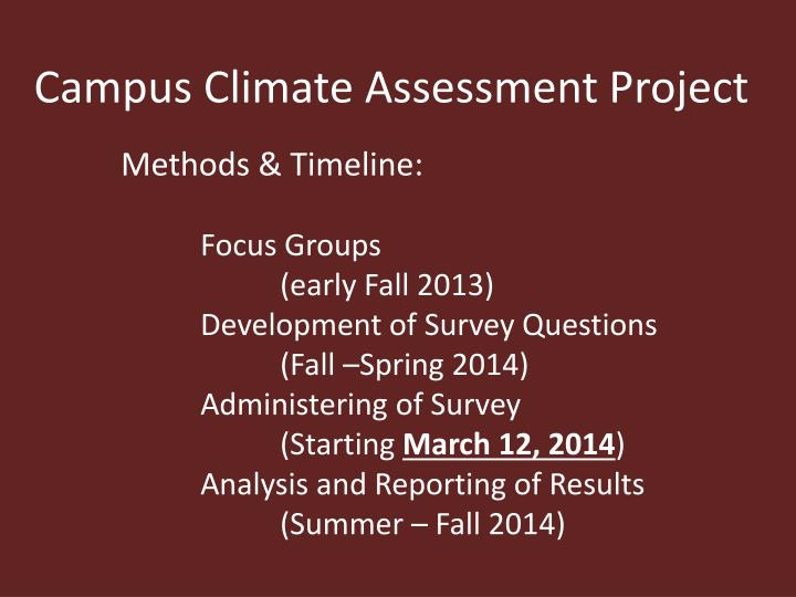 Campus Climate Assessment Project