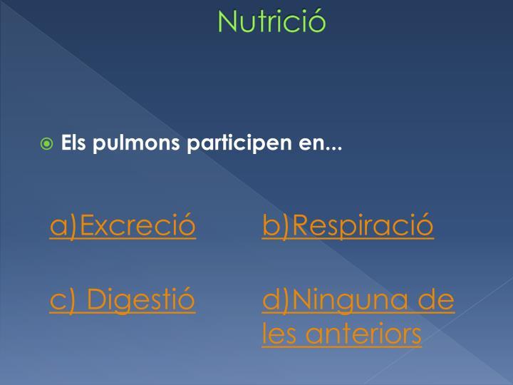 Nutrició