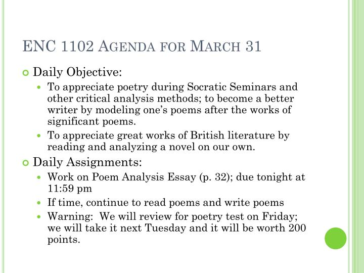 Enc 1102 agenda for march 31