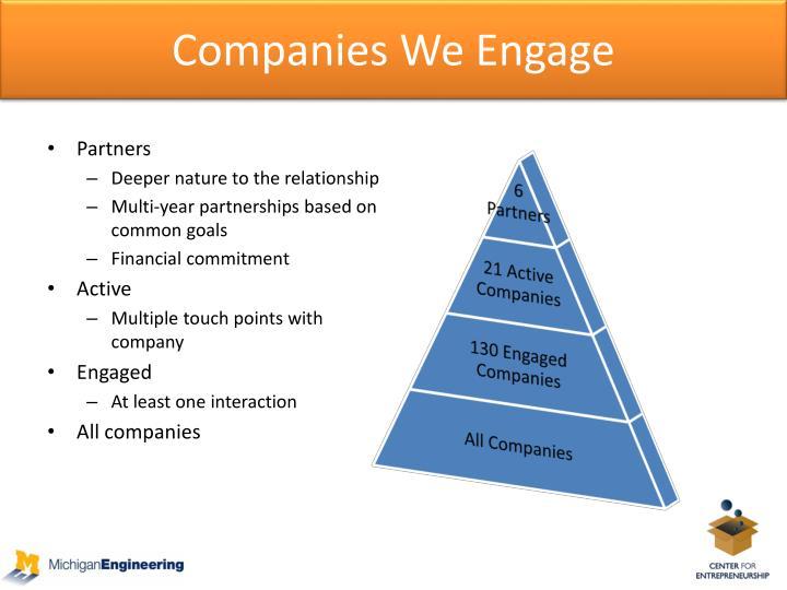 Companies We Engage