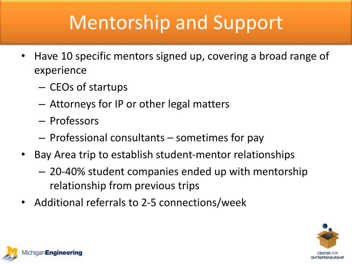Mentorship and Support