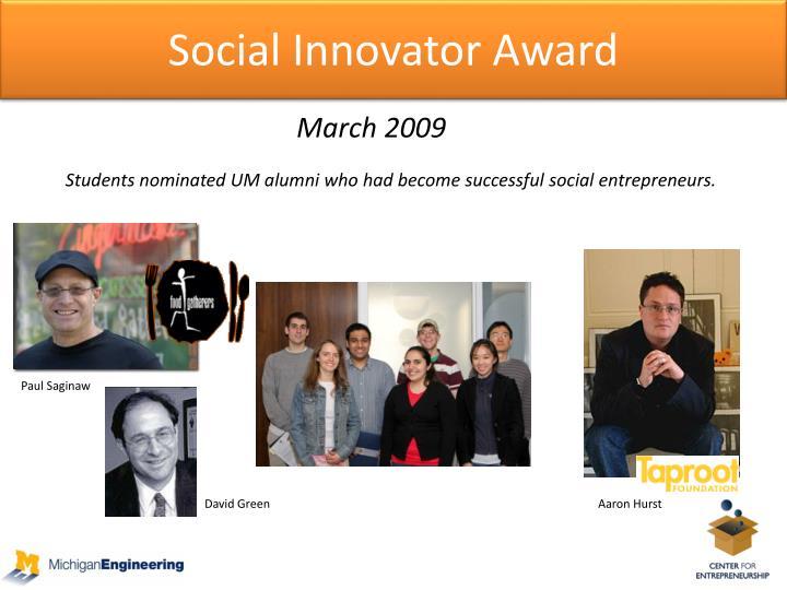 Social Innovator Award