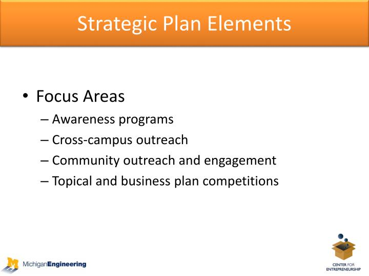 Strategic Plan Elements