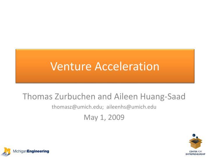 Venture Acceleration