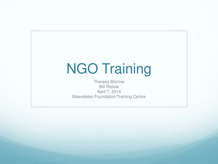 Ngo training
