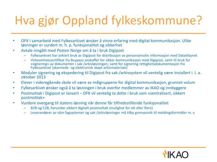 Hva gjør Oppland fylkeskommune?