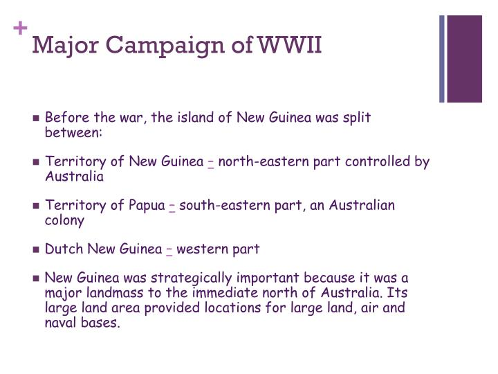 Major Campaign of WWII