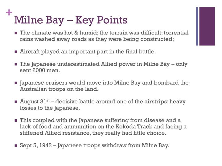 Milne Bay – Key Points