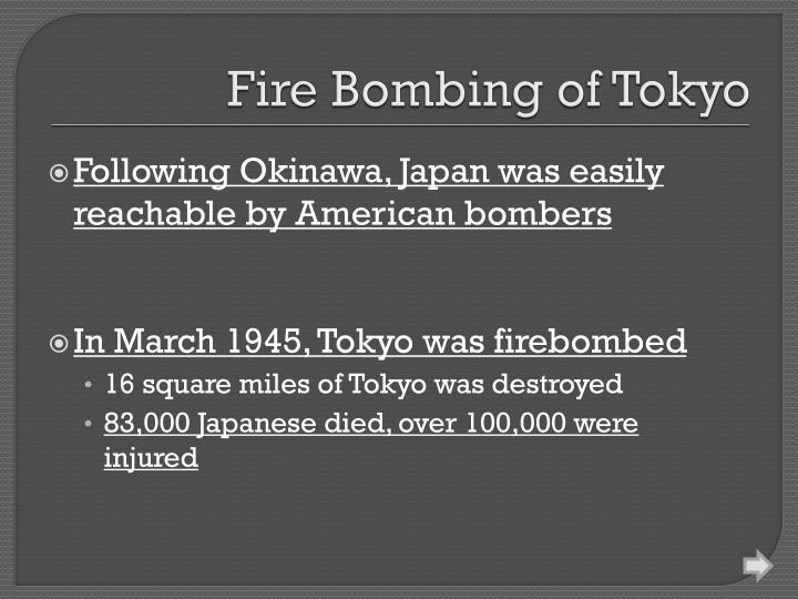 Fire Bombing of Tokyo