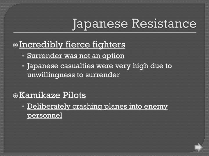 Japanese Resistance