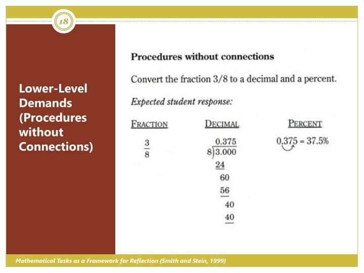 Lower-Level Demands (Procedures without Connections)