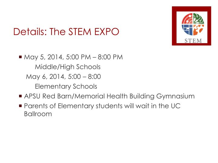 Details: The STEM EXPO