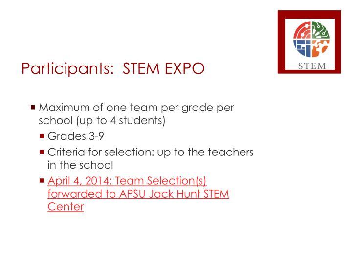 Participants:  STEM EXPO