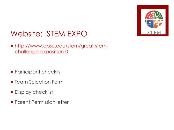 Website:  STEM EXPO