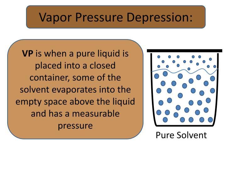 Vapor Pressure Depression: