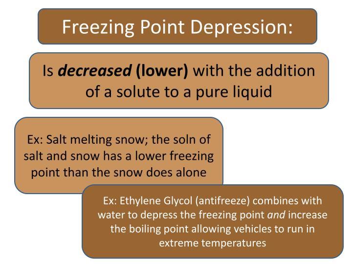 Freezing Point Depression: