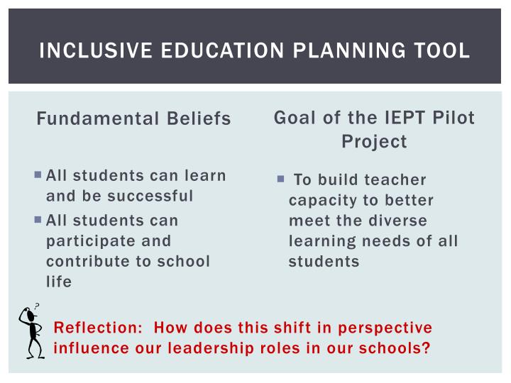 Inclusive Education Planning Tool