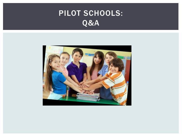 Pilot Schools: