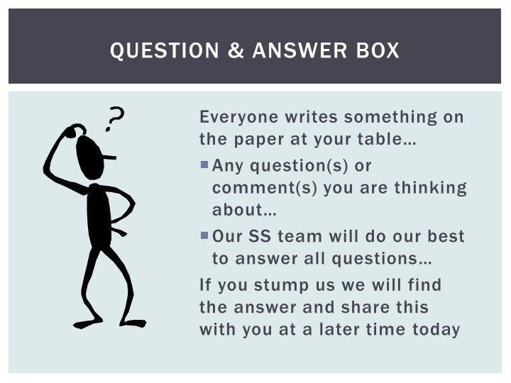 Question & Answer Box