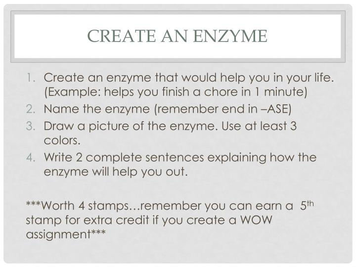 Create an Enzyme