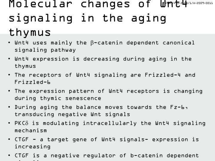 Molecular changes